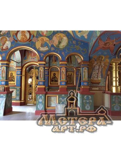 Иконостас, Надвратный храм Николая Чудотворца