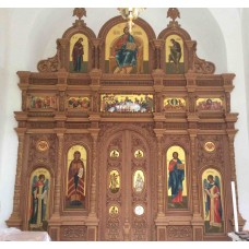 Иконостас , храм в честь Пресвятой Богородицы Живоносный источник