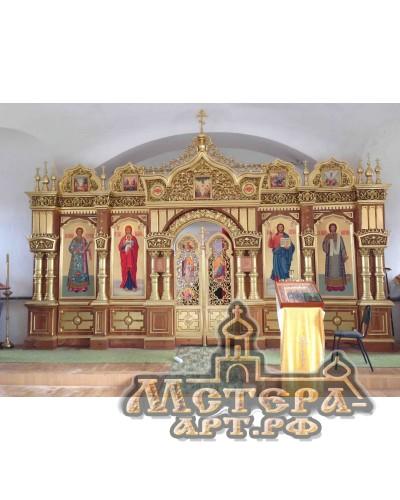 Иконостас , Надвратный храм Всех Святых